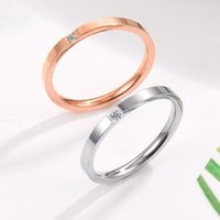 Wedding Rings JHSL 2mm Thin Small Mini Stainless Steel Women Rose Gold Color Fashion Jewelry US Size 3 4 5 6 7 8 9 10