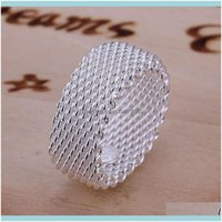 Jewelry2021Vsale Network Sterling Plated Ring Gr040,Womens 925 Sier Band Rings Drop Delivery 2021 Xvvlc