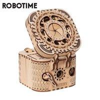 Robotime 123pcs Criativo DIY 3D Caixa de Tesouro de Tesouro de Madeira Jogo de Montagem De Montagem de Brinquedo para Crianças Adolescentes Adulto LK502 210417