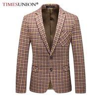 Alta qualidade masculino casaco casual ocasional top masculino lã negócio único terno fino tendência jaqueta para homem ternos blazers