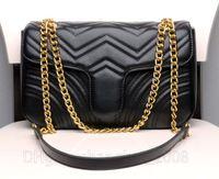 Роскошные дизайнеры сумки женские плечо классические бархатные PU кожаные сердца стиль золотая цепочка сумка сумка мессенджера