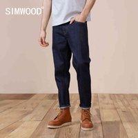 Simwood Automne Jeans Hommes Confortable Pantalon Denim Selavage Plus Taille Casual Haute Qualité Pantalon Longueur de la cheville SK11