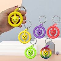Factory wholesale Screaming Monkey Party Favor Decompression Children's Toy Silicone Grip Keychain Sensory squeeze toys