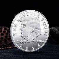 Trump 2024 Coin Craft Commemorativa La vendetta Tour Salva America di nuovo Badge Metal Badge Gold Silver Novità