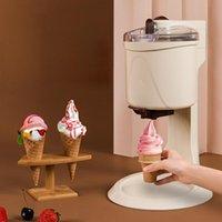 220V Household Soft Serve Ice Cream Machine Automatic Icecream Sundae Maker DIY Fruit Dessert Milkshake Smoothie