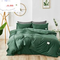 Bedding Sets Home Textile Set Solid Color Duvet Cover Quilt Covers Pillowcases European Size King Queen Gray Blue Pink Green