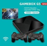 Boîte de jeu Powkiddy G5 Nostalgic Host S905L WiFi 4K HD Super Console X 50+ Emulator 40000+ Jeux Retro TV Video Player pour PS1 / N64 / DC