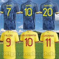 Colômbia National Football Team Soccer Jersey 2020 21 Sánchez Zapata Rodríguez Muriel Mina Morelos Falcao Futebol Camisa