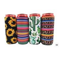 17 * 8,5 cm can can cooler slim Can Isolatoren Neopren-Getränk-Bierkühler-zusammenklappbare Cola-Flasche Koozies Cactus Leopard Can Sleeve BWE6165