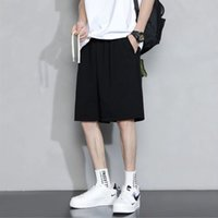 Pantaloncini da uomo Estate 2021 Trend Lins Solid Color Solido Sport Casual Casual Pantaloni a cinque punte Indossare grandi dimensioni sottili Hong Kong