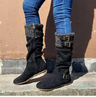 Wholesale-Boots Size Zip Women's Mid Calf Women Walking Shoes Female Ladies Sneaker Casual Booties Zapatos Mujer Botas