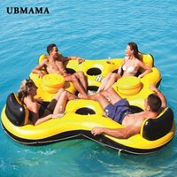 Adults Huge Inflatable Pool Float Giant Floating Fashion Swimming Island Lounge Party Water Rest Bed & Accessories