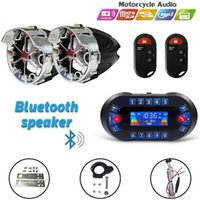 Bluetooth Remote Control Speaker Audio For Motorcycle Car ATV High Volume Waterproof Anti-Theft 12V Stereo Radio