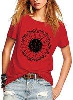 Ромастори Женские летние футболки Цветочный принт с коротким рукавом Cread Crewneck Tops T-рубашки