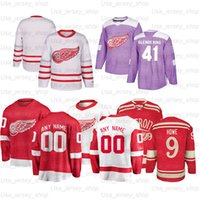 Personalizado Detroit Hockey Jerseys 13 Pavel Datsyuk 91 Sergei Fedorov 19 Yzerman 9 Gordie Howe 39 Anthony Mantha