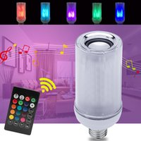 Light Bulb Bluetooth Speaker, 8W E26 RGB+W Changing Lamp Wireless Stereo Audio with 24 Keys Remote Control LED Bulbs 85V-265V crestech