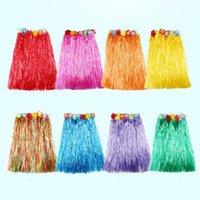 Party Favor 30 40 60 80cm Hawaiian Hula Grass Skirt Beach Luau Decoration Dance Dress Tropical Supplies