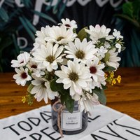 Decorative Flowers & Wreaths 21 Heads 1pcs Silk Daisy Bride Bouquet For Christmas Home Wedding Year Decoration Fake Sunflower Artificial