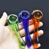 Hand smoking Pipe Hookah Glass oil burner Pipes Smoking Tobacco Hand Spoon Pipe Dab Rigs Glass Bubbler