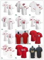 남성 여성 청소년 5 조니 벤치 11 Barry Larkin 7 Eugenio Suarez 14 Pete Rose 사용자 정의 야구 유니폼 빈 빨간색 흰색