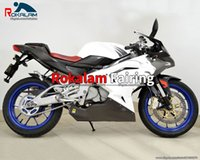 Motorcycle Fairing For Aprilia RS125 06 07 08 09 10 11 Aftermarket Body Cowling RS 125 2006-2011 White Black Fairings Parts (Injection molding)
