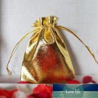 Gift Wrap 25 Stks Trekkoord Niet-Geweven Stof Voile Sieraden Gunst Bruiloft Candy Pouch Tassen (Golden)