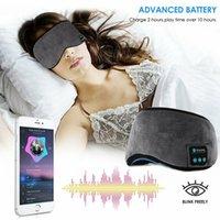 Wireless Bluetooth Eyeshade Cover Intelligent Sleeping Mask Music Headphone Travel Blindfold Patch Sleep Masks