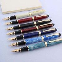 Alta qualidade marca jinhao x450 fonte de metal caneta azul verde verde tinta caneta escritório material escolar de escrita