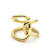 Double Line Cross Cross Rings для женщин Бесконечные кольца Персонализированные подарки Уникальный дизайн Мода Ювелирные Изделия Анель Феминино