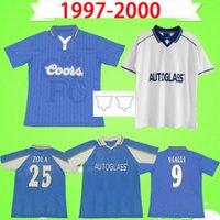 Chelsea fc jersey cfc 1997 1998 1999 الرجعية لكرة القدم جيرسي # 9 فيالي # 25 ZOLA 97 98 99 منزل خمر الأزرق قميص كرة القدم الزي الكلاسيكي TERRY FLO بويت