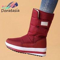 Womens Warm Plush Russia Winter Snow Boots Women Thick Fur Keep Warm Boots Ladies Non Slip Shoes Woman Big Size 41 C9ne#