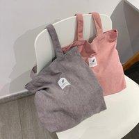 Сумки для женщин 2021 CORDUROY Сумка на плечо Многоразовая покупка Повседневная сумка Женская сумочка определенное количество талии капель
