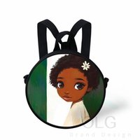 حقيبة الظهر العودة إلى المدرسة نيجيريا العلم مستدير أكياس للأطفال الفن الأسود أفريقي الفتيات Schoolbg الأطفال Bookbag Bookbag Toddler Mochila