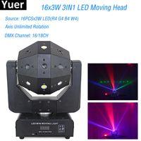 Effects Laser Beam Strobe 3IN1 120W LED RGBW Moving Head Light Club DJ Stage Lighting Party KTV Bar Disco Heads