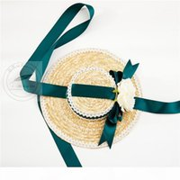 Fairy Lolita Hat Lace Brim Flower Flower Ribbon Bonnet Cap Bow Fascinator Hat Women Cocktail Fancy Make-up Party Headdress1