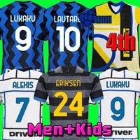 Inter 2020 2021 Futbol Forması Lukaku Milan Vidal Barella Lautaro Eriksen Alexis Hakimi 20 21 Futbol Gömlek Üniformaları Erkekler + Çocuk Kiti 4. Dördüncü