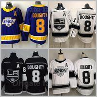 Los Angeles Kings La 8 Drew Jersey Drewty Jersey revers Retro Glace Hockey Tout cousu Black Black Purple Team Couleur Top Qualité en vente
