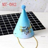 Cone Party Hats С Днем Рождения Партия Мэйммер Бумага Шляпа Шляпа Корона Веселье Игра Празднование Дома Украшения FWA4786