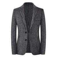 Костюмы шерстяной шерстяной двусмысленной ручной работы Blazer адаптарный костюм Мощный наряд в повседневной куртке любого человека Terno Masculino Blazers мужские