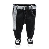 2021 Gürtel Kinderhosen Kinder Hosen Baby Jungen Jeans Plus Samt für Baby Jungen Denim Toddler Kleidung 2-7 Jahre KO49 750 Y2