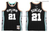 Stitched Tim Duncan Jersey S-6XL Mitchell & Ness Hall of Fame 1997-2016 Mesh Hardwoods Classics retro basketball jerseys Men Women Youth