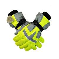 et mitatens moto équitation hommes femmes extérieures chaudes étanche hiver laine épaississement fourrure intégré gants de ski intégré
