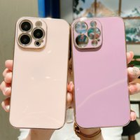 Luxury Square Gold Plating Phone Cases For iPhone 13 12 Mini 11 Pro XS Max XR X 8 7 6 Plus SE2020 Solid Color Silicone Cover case