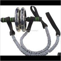 Rollenausrüstungen liefert Sportarten im Freien Bauchmuskelrad Hilfs-Pull-Gym AB-Rollenwiderstand Bands Seil Fitness-Equipmen