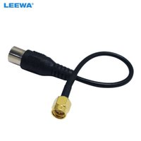 Leewa Auto 29 cm Auto-Anschluss SMA-Stecker zu IEC DVB-T TV-PAL-Buchse-Stecker-Adapter RG174 Kabel-Jumper-Pigtail-Draht # 3918