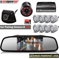 koorinwoo 자동차 HD 모니터 미러 비디오 Parktronic 키트 지능형 동적 궤적 라인 백미 카메라 앞 광각 시스템 후면보기 C