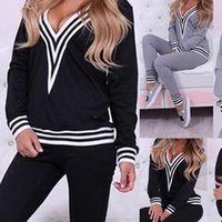 2pcs Set sports suit Large Women Sleepwear Plus Size tracksuit Hooded sweater pants two piece Top And Pant Sportwear Warm