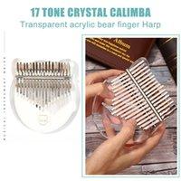 17 Key Kalimba Acrylic Transparent Thumb Piano for Beginner Solid Wood Mbira Climba Muscial Instrument