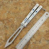 나이프 트레이너 나이프 G10 + 티타늄 핸들 D2 블레이드 부싱 시스템 접이식 생존 칼