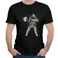 도착 우주 비행사는 야구 우주 셔츠 남자 라운드 넥 티셔츠 간단한 스타일 O- 목 티 크루 레트로 남자 티셔츠